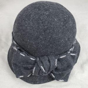SAN DIEGO HAT COMPANY Dark Grey Bow Wool Hat